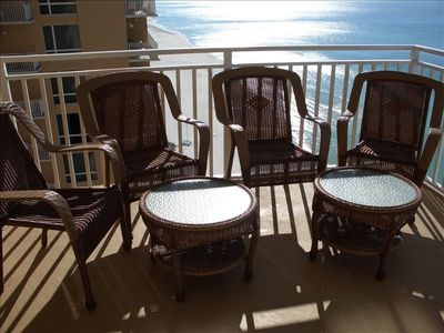 Enjoy family gatherings and a cold beverage on the massive balcony.