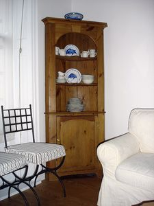 PINE CUPBOARD with your crockery and glasses.