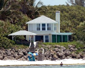 Siesta Key house photo - as seen from the gulf, a dreamy, private retreat by the sea....