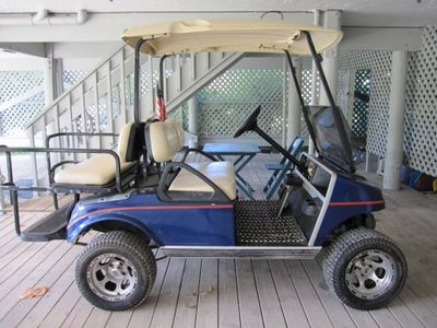 Our golf cart which is included at no additional charge!