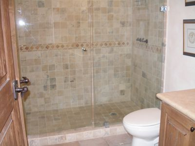 2nd bathroom with large shower.