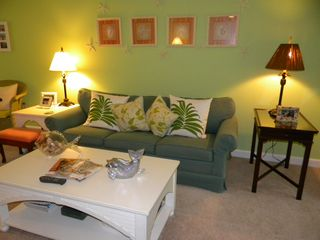 Murrells Inlet cottage photo - Comfortable seating with new den TV; new wall-to-wall carpet.