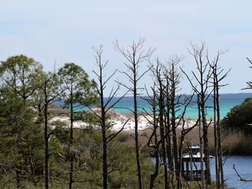 View of Redfish Lake and the Gulf from Balcony