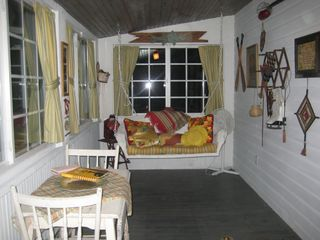 Front Porch with new sliding windows - Chepachet cottage vacation rental photo