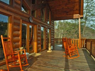 Check out our Views from the back deck & get reaquainted with Family members - Pigeon Forge cabin vacation rental photo