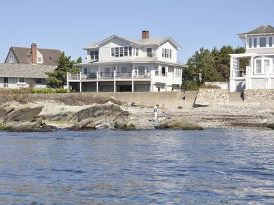 Newport house rental - On Ocean on Eastons Point facing the 40 steps and Salve Regina University