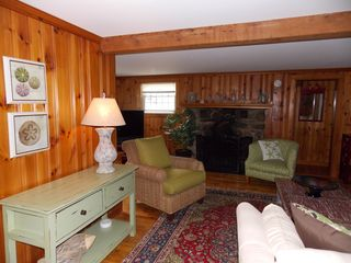 Rye house photo - Newly decorated living room with gas log fireplace