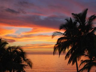 Archipelago of San Bernardo bungalow photo - Caribbean sunset as seen from from front, upstairs balcony.