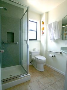 bathroom in smaller unit