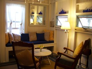 Den with window seat. - Oak Bluffs house vacation rental photo