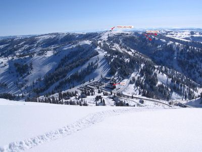 Powder Mountain townhome rental - Location, Location, Location! Our Powder Mt condo in foreground.