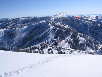 Location, Location, Location! Our Powder Mt condo in foreground.