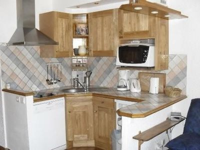 2 rooms 35 m2. Chalet style on the slopes, magnificent glacier views
