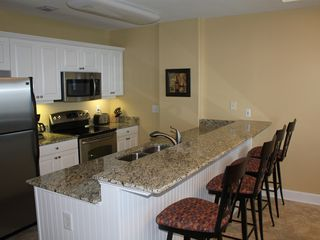 Orange Beach condo photo - Kitchen and Bar Area