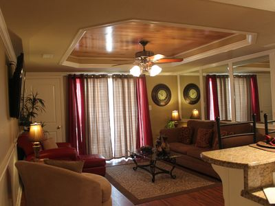 Living area from the foyer-notice the recessed ceiling