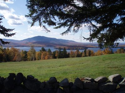 Blair Hill Views, Squaw Mountain in the distance and Moosehead Lake