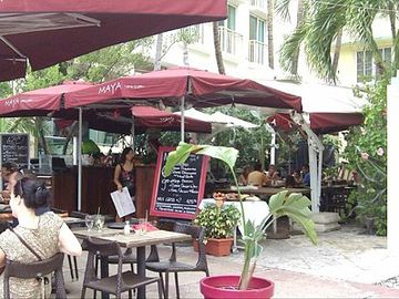 The wonderful Cuban restaurant in our courtyard