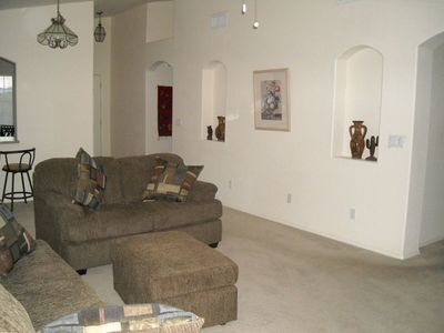 Living Room is bright and nice and has new funiture! Direct TV Now Included!