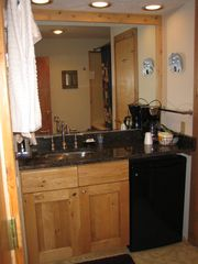 Canaan Valley studio photo - Granite countertop and stainless steel sink