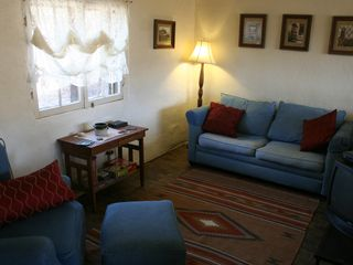 Santa Fe cottage photo - Living room with sleeper sofa (double)
