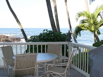 Napili house rental - Right side Lanai with Gas BBQ, patio table & chairs, this lanai is not covered.