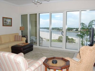 Family Room overlooking Waterway