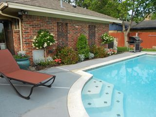Arlington house photo - Enjoy the Beautiful Landscape and Loungers in Pool Area