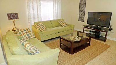 Enjoy a movie with the family on our comfortable sofas with large HD TV