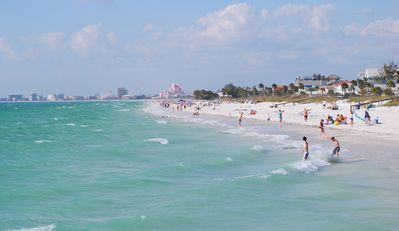 St. Pete beach, one of several Gulf Beaches only a 20 min. drive from Casa Verde