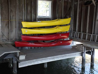Kayaks and bicycles and equipment available for guests use.