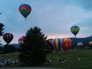 The Balloonfest is just one of the many events held throughout the year in Stowe