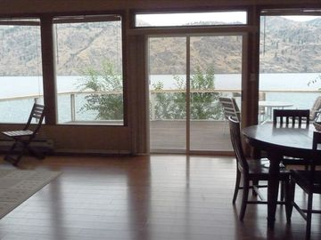 Lake Chelan cabin rental - View of Lake Chelan from inside the cabin