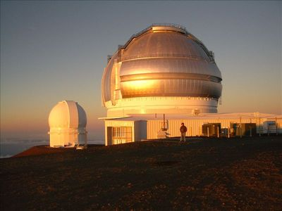 Sunset at the World Class Observatories on top of Mauna Kea.