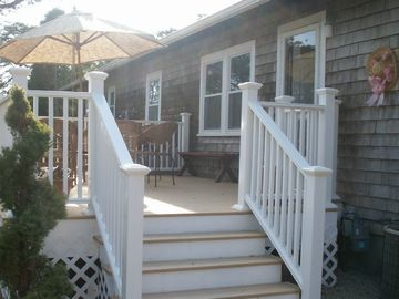 Yarmouth house rental - 'We especially loved having breakfast on the deck'