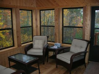 Biwabik house photo - 3-Season Cedar Porch-Our favorite Space!!