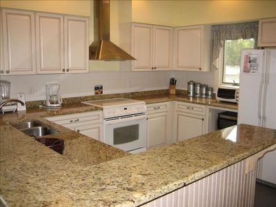 Spacious and well equiped Kitchen.