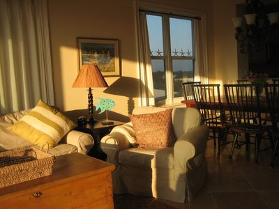 Late afternoon sun in living room
