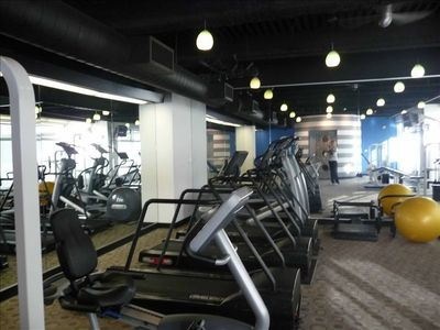 Cardio equipment in gym plus other good work out equipment