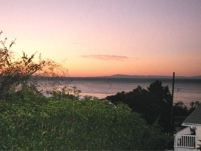 View from Paradise Cottage -- Sunrise over the Santa Barbara Channel.