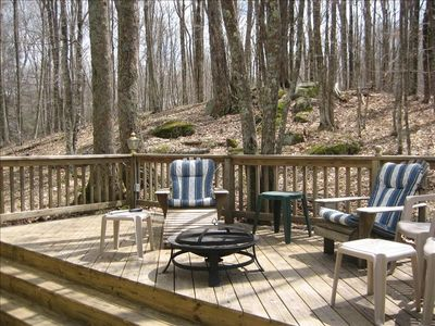 Relaxation awaits on the spacious back deck!