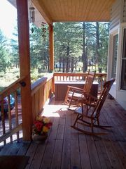 Relax on the front porch on the swing and 2 rocking chairs, new pics soon! - Williams house vacation rental photo