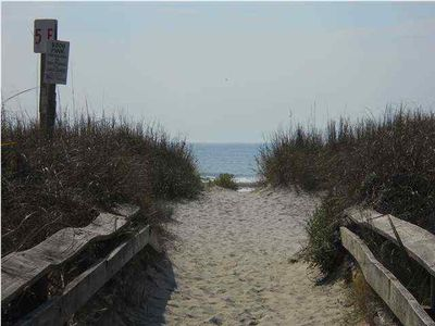 Direct Beach Access with Soft Sand and Cool Waves!