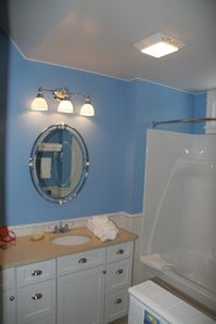 Upper unit bathroom
