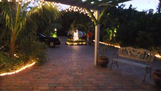 Key Largo house photo - view of main entrance at night