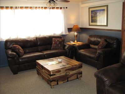 Our comfortable living room with all new furniture.
