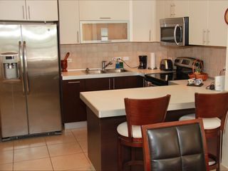 Aguadilla condo photo - Fully equiped kitchen, stainless steel appliances, Filtered refrigerator water.