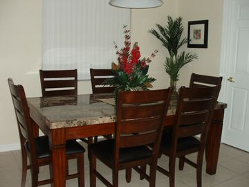Kitchen dining area - comfortably seats 8 people