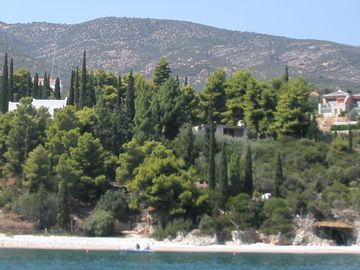 A view of the estate from the sea