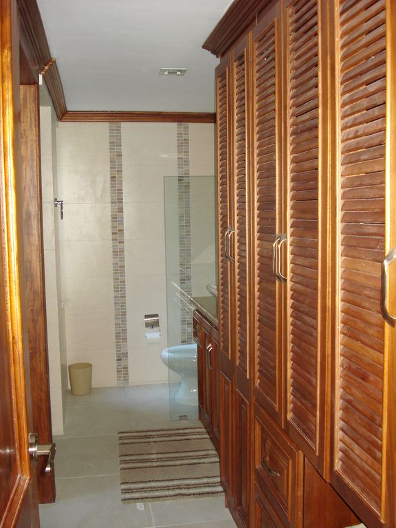 Spacious walk-in closet in the second bathroom