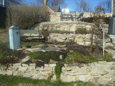 Three Tier Stone Landscape with Pump Fountain. Voted Garden of the Month in 2011